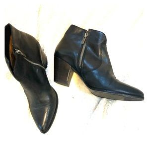 Frye black leather boots size 6